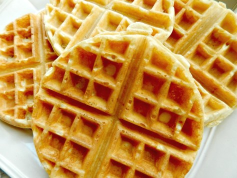 Marion Cunningham's Waffles adapted for Belgium Waffle Maker.