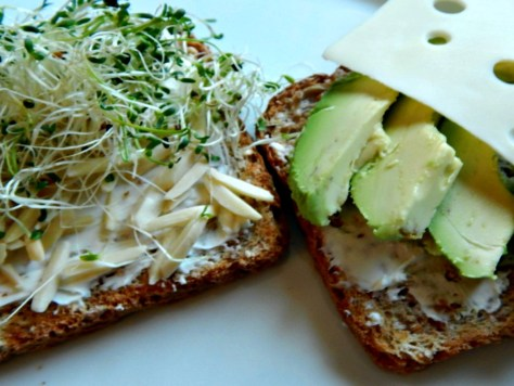 Health Nut Avocado Sandwich - Layer like this so it holds together.