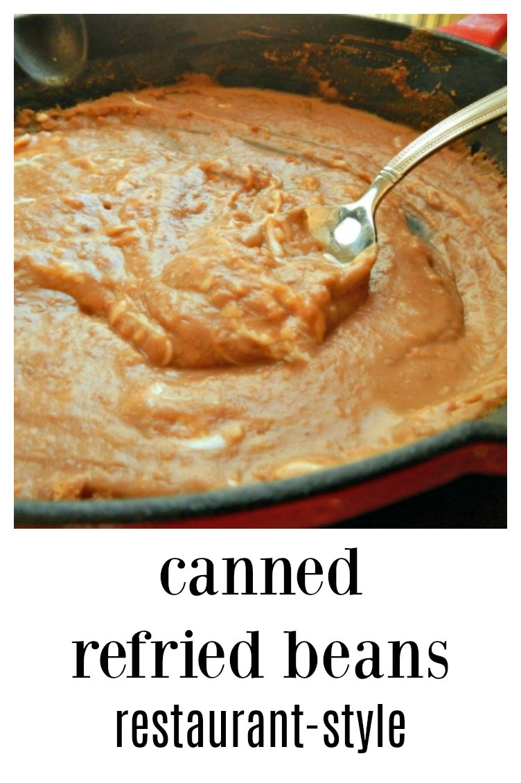 Canned Refried Beans - Make them taste like a Restaurant's. Check out this easy method. #Canned Refried Beans #CannedRefriedBeansRestaurantStyle #RestaurantStyleRefriedBeans