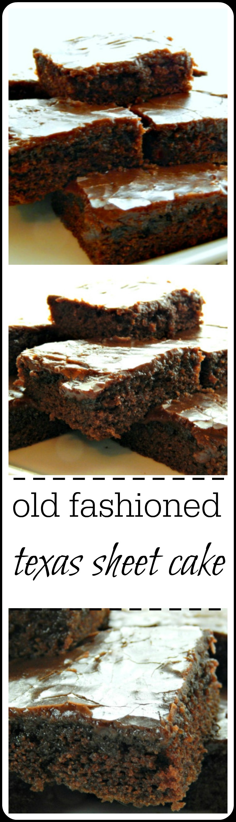 Old Fashioned Texas Sheet Cake - This is an old recipe for the old-fashioned dessert. The cake has the crinkly frosting, the hallmark fudgy layer. It's down-home comfort food that serves a crowd. #TexasSheetCake #ChocolateSheetCake