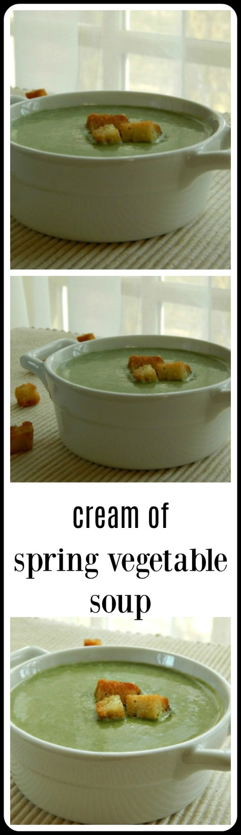 Cream of Spring Vegetable Soup or Potage. So much better than it sounds!