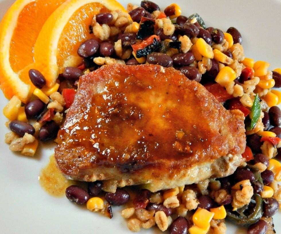 Cumin Dusted Pork Chops with Citrus Glaze
