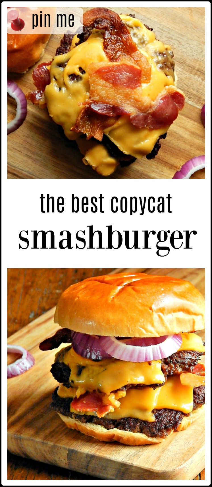 Copycat Smashburgers Home Style If you love crusty, juicy griddled Smashburgers, you're going to love making them using this easy, no mess recipe. Everyone will rave! #Copycat Smashburgers #Smashburger Recipe #EasyNoMessSmashburgersHome #HomemadeSmashburgers
