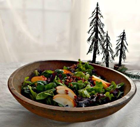 Wild Rice Harvest Salad with Citrus Dressing