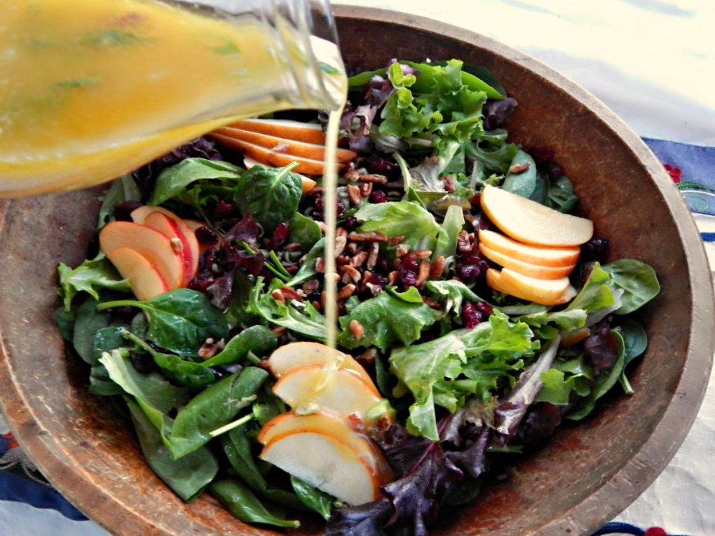 Wild Rice Harvest Salad with Citrus Dressing