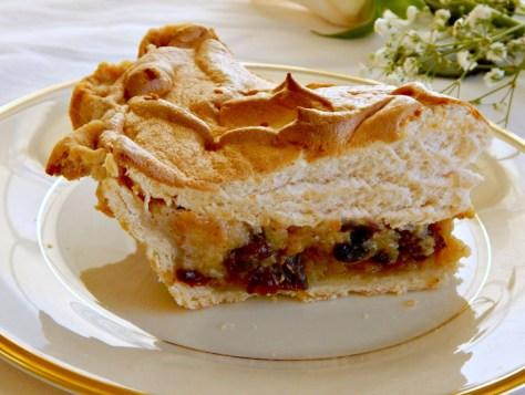 Sour Cream Raisin Pie, showing my Grandma's Pie Crust