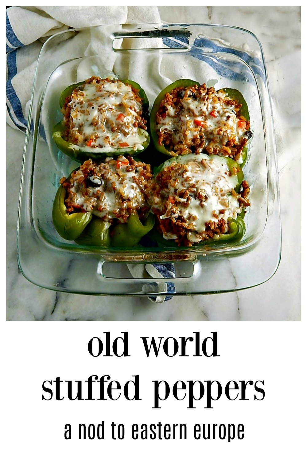 My 90-year-old Stepmom's secret recipe for Old World Stuffed Peppers has a secret - they're done in the microwave! The peppers stay fresh & gorgeous! They're the best I've ever had and lean towards her Czech/German roots with the old world spicing. #StuffedPeppers #OldStyleStuffedPeppers #ClassicStuffedPeppers #CzechStuffedPeppers #GermanStuffedPeppers