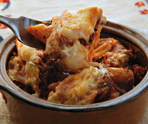 Cheesy Pasta Bake - The Best! With Italian Sausage, Fresh Mozzarella and Wine!