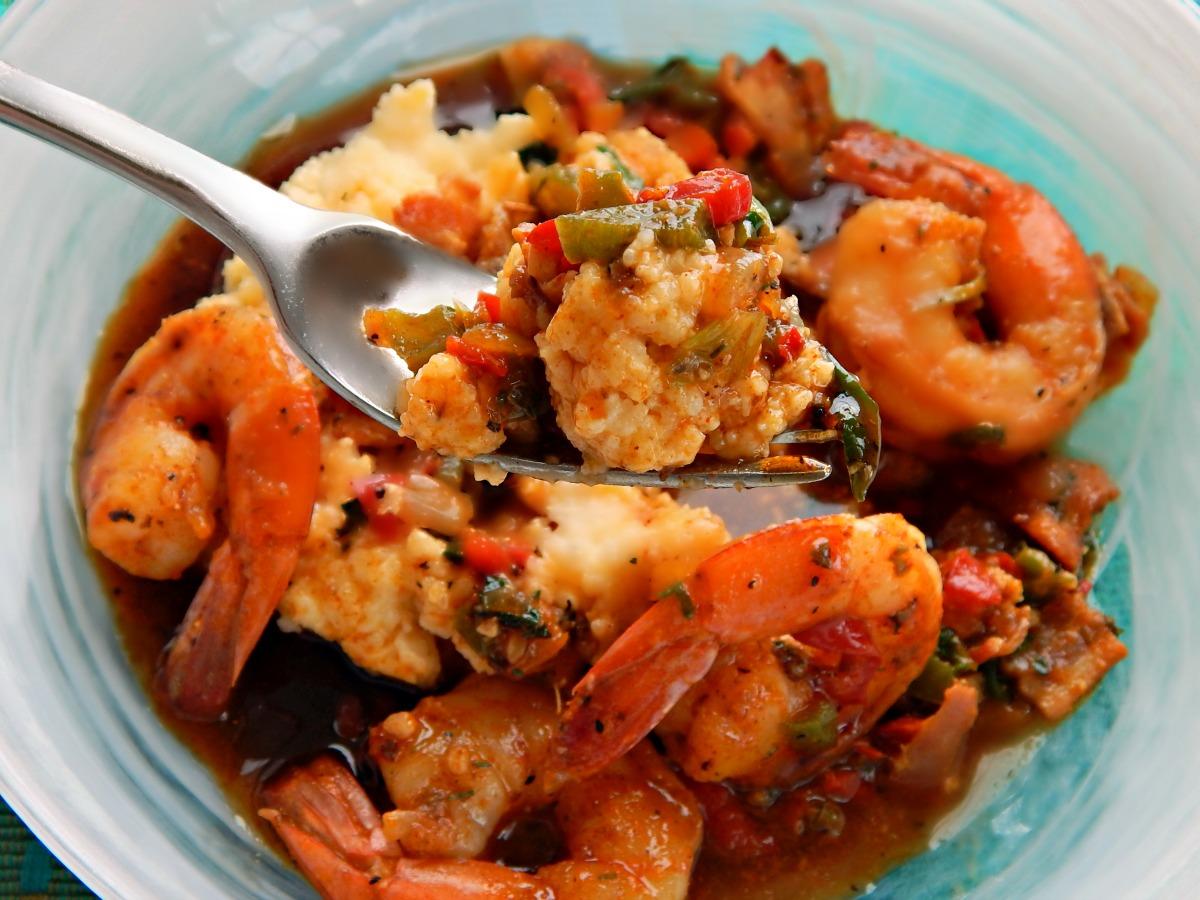 Shrimp & Grits with Cajun Gastrique