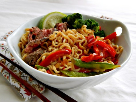 Steak & Vegetable Ramen Bowl