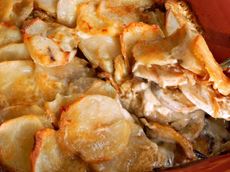 Potato Mushroom & Caramelized Onion Gratin