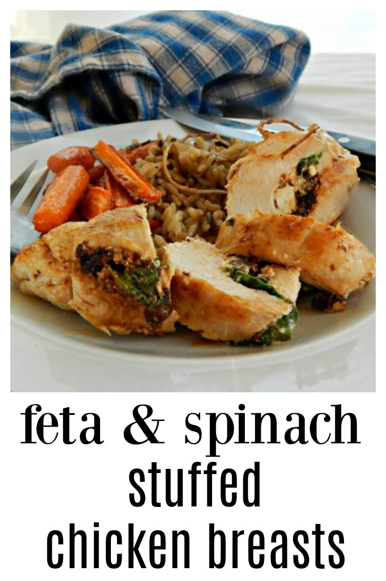 Feta & Spinach Stuffed Chicken Breasts are so good you'd never guess they are healthy! It doesn' hurt that they just look so darned good! #StuffedChicken #SpinachFetaStuffedChickenBreast