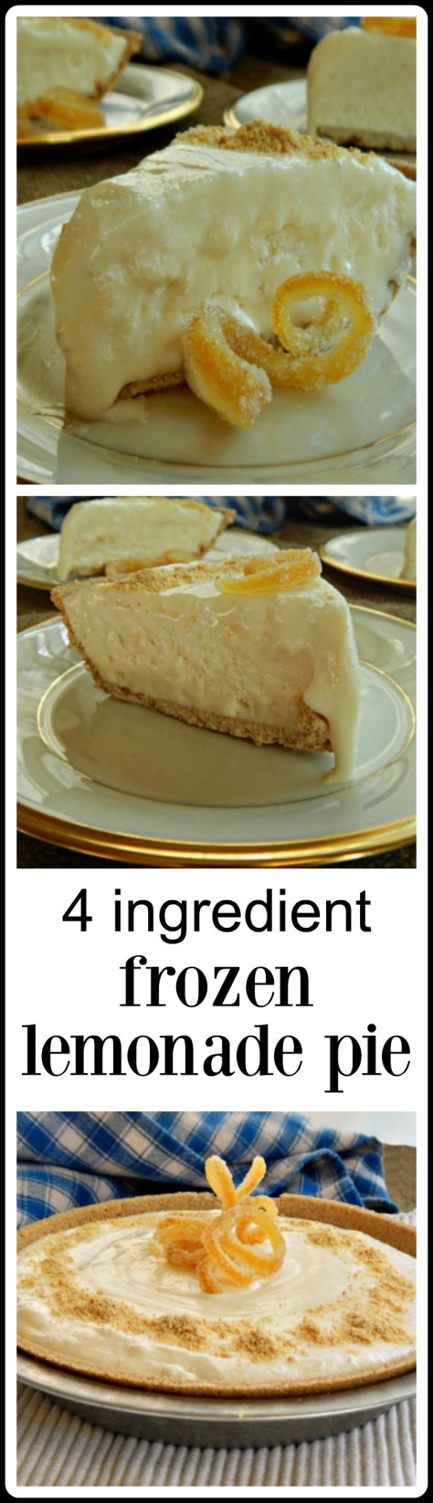 Frozen Lemonade Pie - It's just what you need on a hot summer day at the cottage!