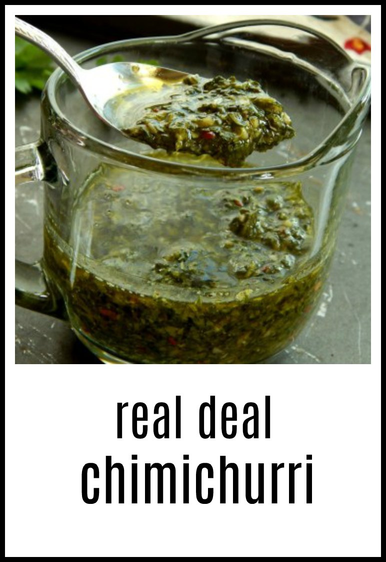 Make a real, deal Chimichurri...along with a few secrets on how to make the best one. The most important thing? Age it! #Chimichurri