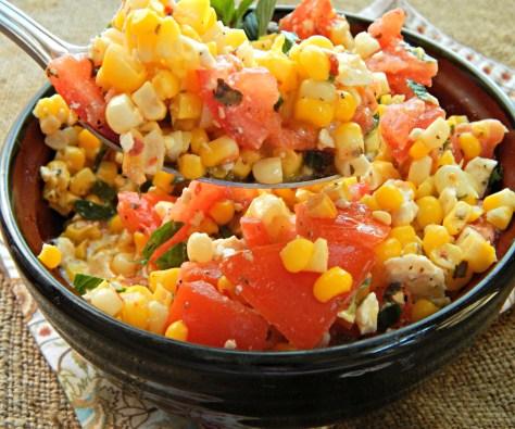 Corn Tomato & Feta Salad