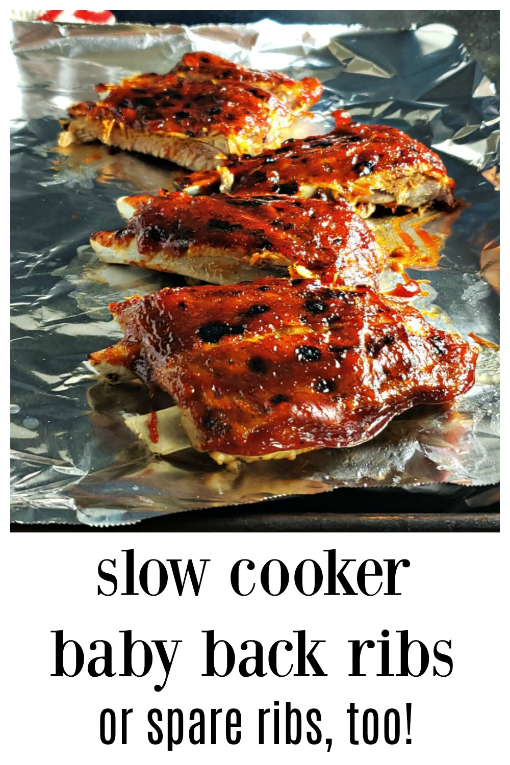 Slow Cooker Baby Back Ribs. Everything you need to know to turn out killer ribs from the slow cooker! Super easy & you'll beat the heat! #SlowCookerRibs #CrockpotRibs #SlowCookerBabyBackRibs #SlowCookerSpareRibs #EasySlowCookerRibs #EasyCrockpotRibs