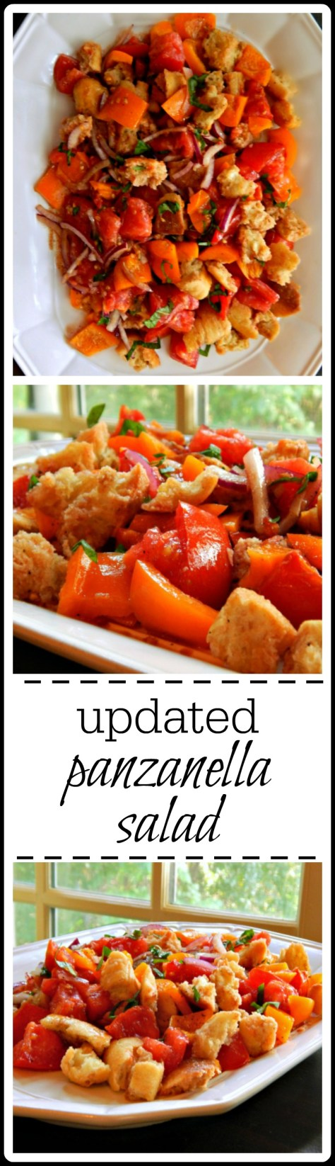 Updated Panzanella - the salad is great, but the croutons are heaven!