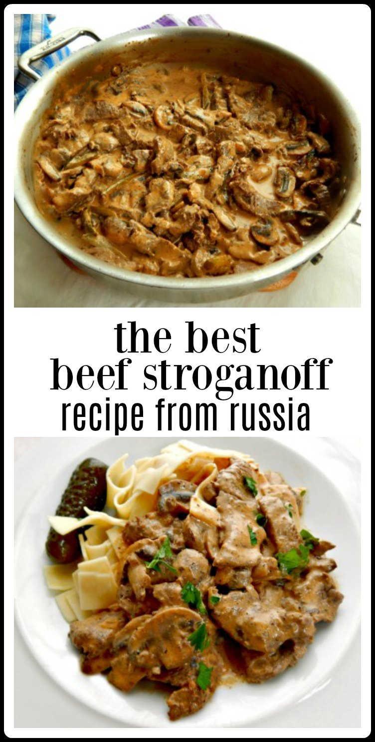 pin best beef stroganoff