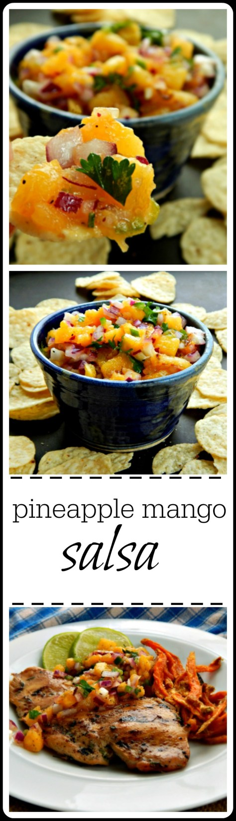Pineapple Mango Salsa - sweet/sour/tangy and choose your heat from mild to fiery