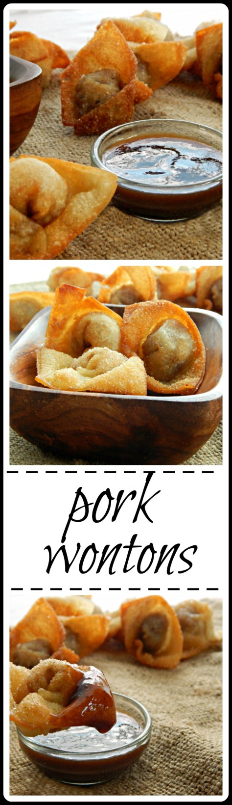 Pork Wontons: frying can be a mess but thee are worth the bother! Insanely good.