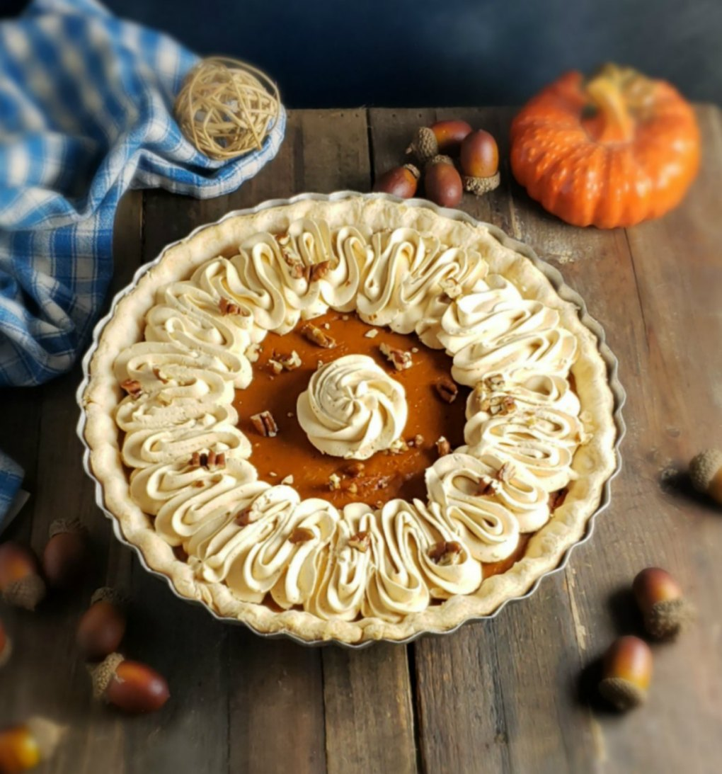 Two Layer Dulce de Leche Pumpkin Pie
