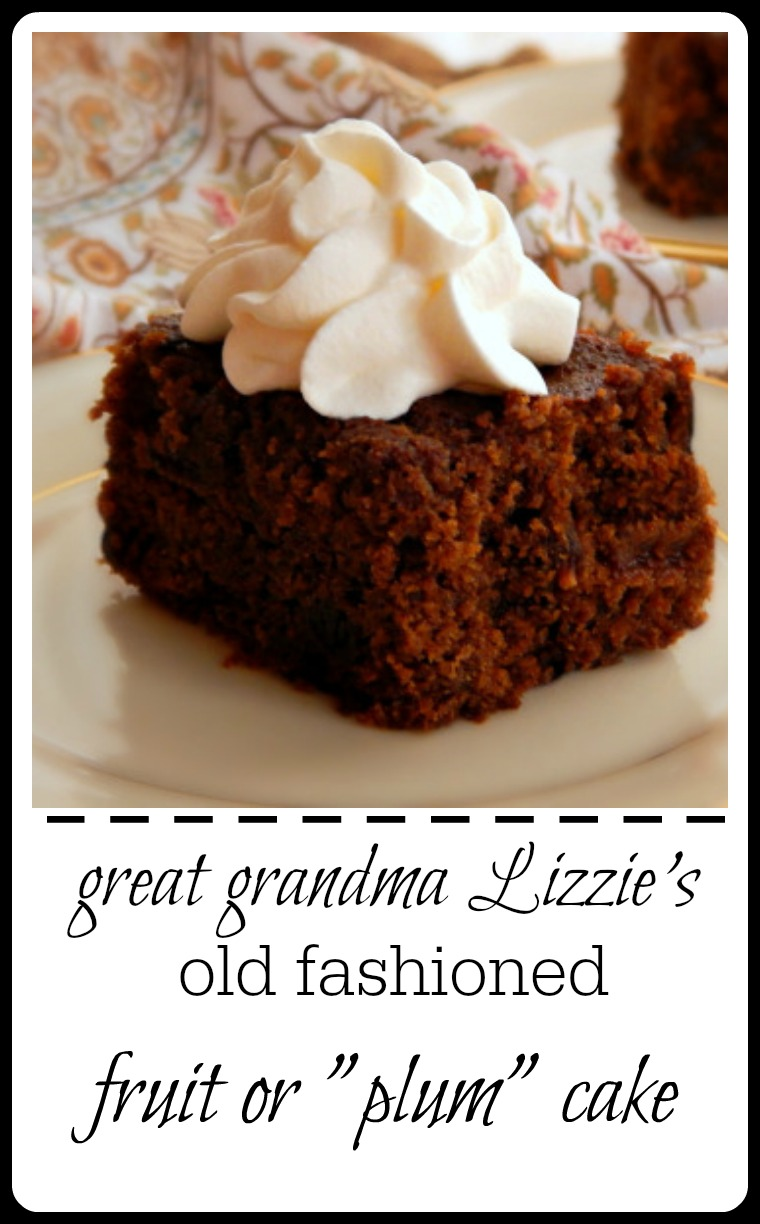My great Grandma's recipe. I had to research to find out why this cake, made with raisins, is called a fruit cake - originally they we called