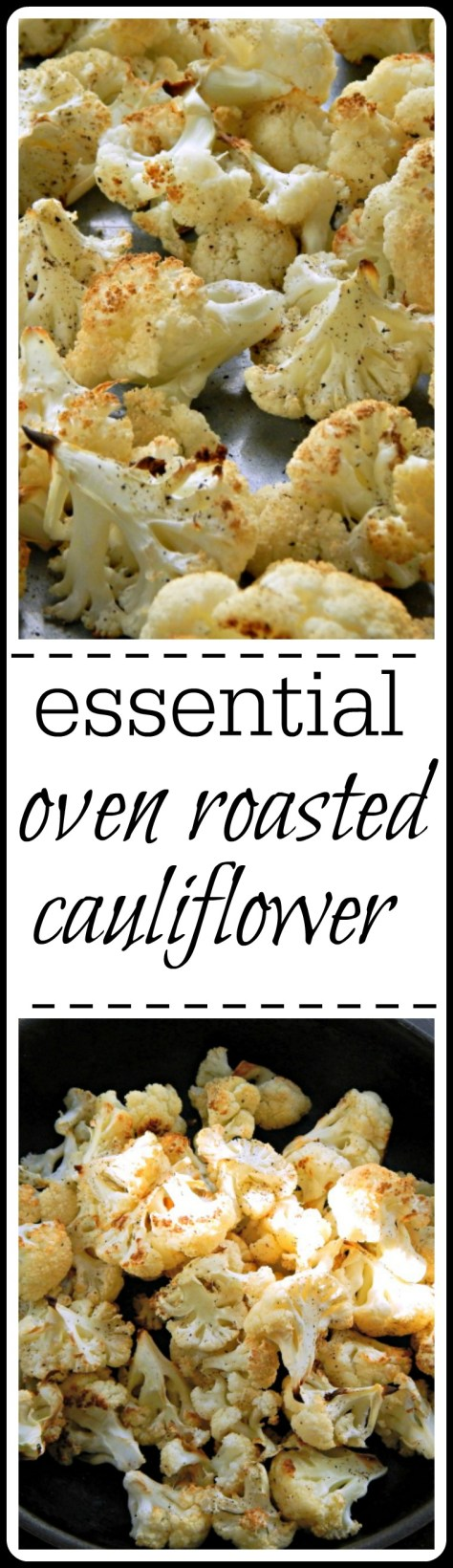 This is the recipe you want for roasted cauliflower! So simple, so good.