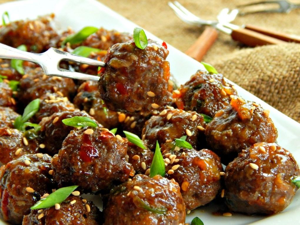 Spicy Korean Meatballs