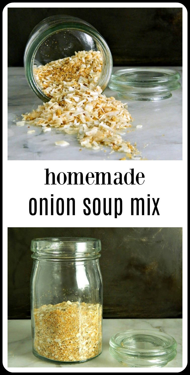 Homemade Onion Soup Mix takes minutes to throw together & costs less than Lipton's. Best of all, you control all the ingredients! #HomemadeOnionSoupMix #CopycatLipton'sSoupMix