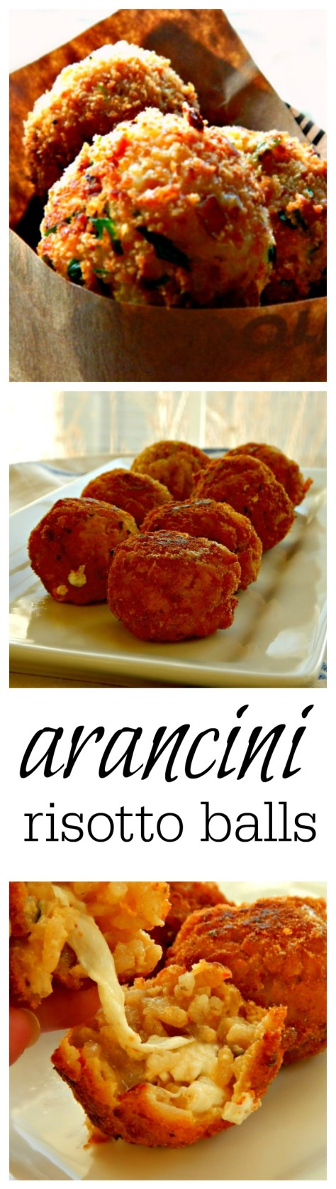 breaded and fried balls of risotto stuffed with cheese!