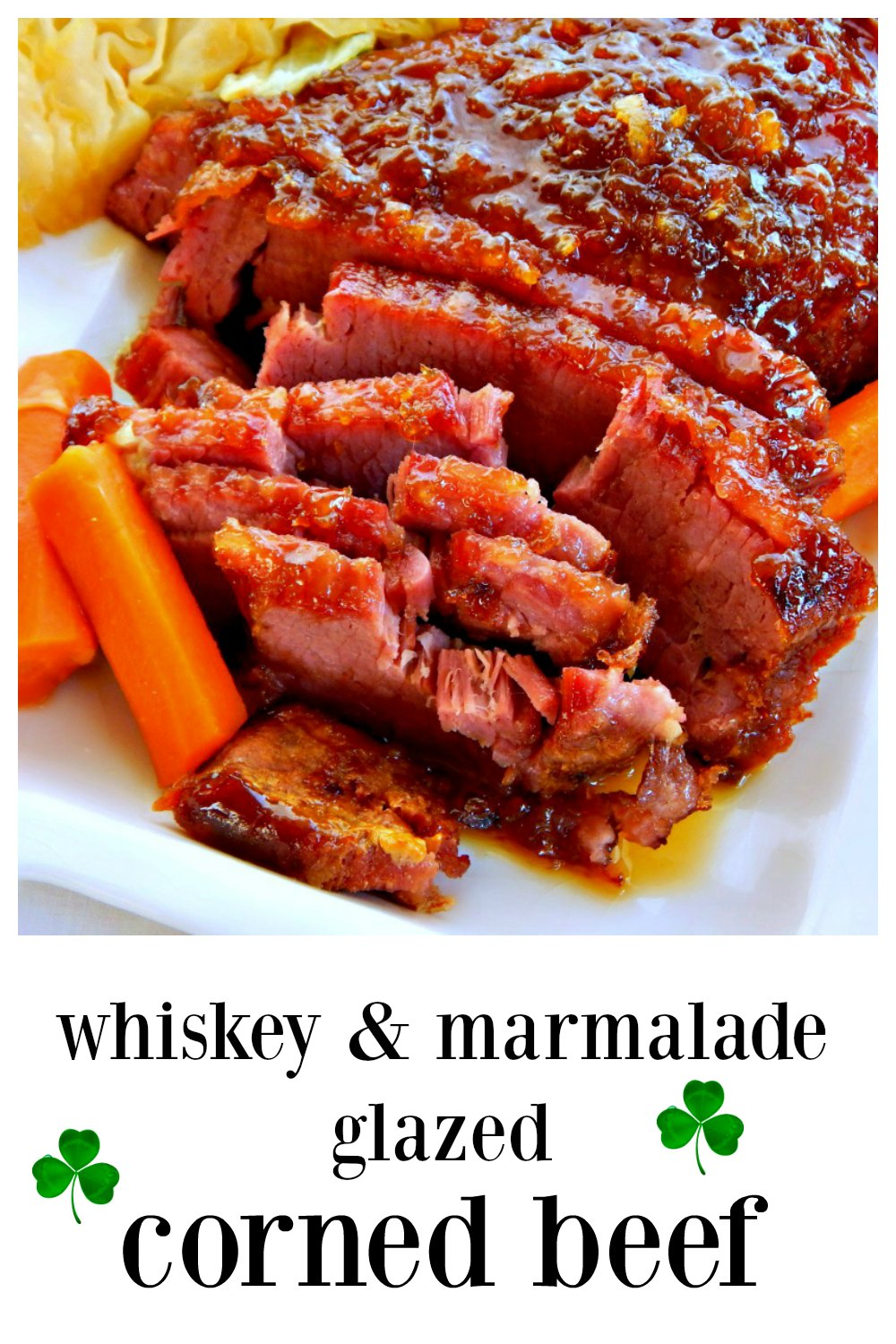 Break out from your rut and try this marvelous Whiskey & Marmalade Glazed Corned Beef adapted from the old Silver Palate Cookbooks. #CornedBeef #SilverPalateCornedBeef #WhiskeyGlazedCornedBeef #WhiskeyMarmaladeGlazedCornedBeef #IrishRecipes #StPaddysDayRecipes #StPatricksDayRecipes
