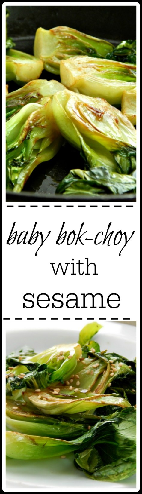 beautiful little babies lightly sauteed & steamed with a double kick of sesame.