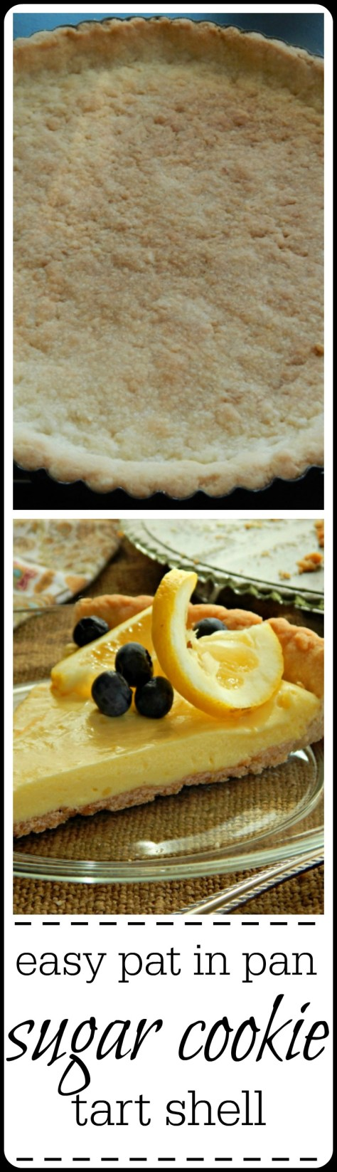 Super easy tart shell - tastes just like a sugar cookie!