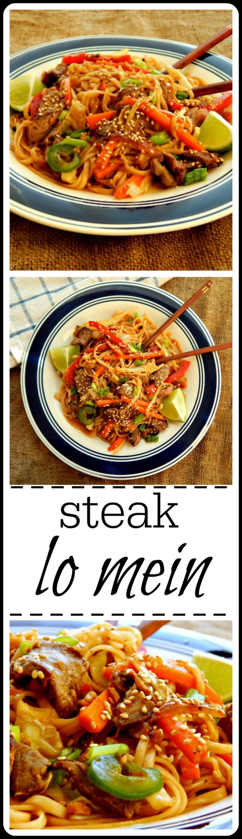 Steak lo Mein: this is made from leftover steak and has to be the BEST leftover steak recipe, ever!