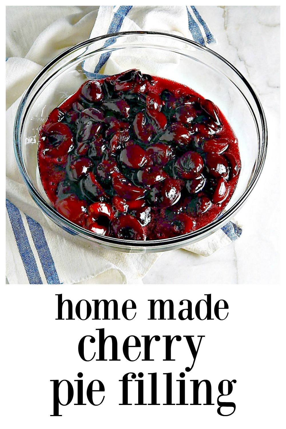 Home-made Cherry Pie Filling