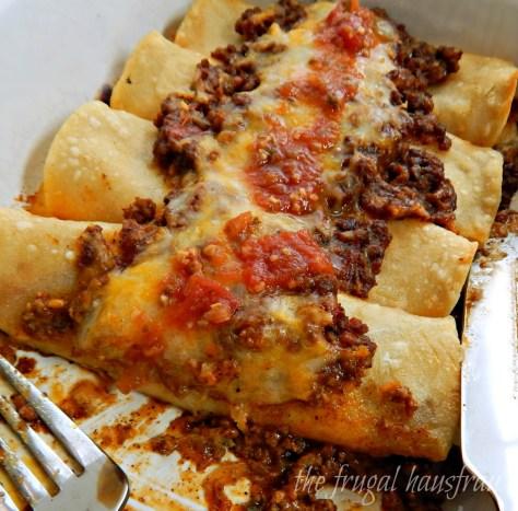 Enchiladas con Carne El Real Tex Mex