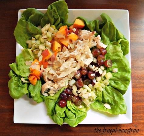 Chicken Salad honey dijon dressing fruit