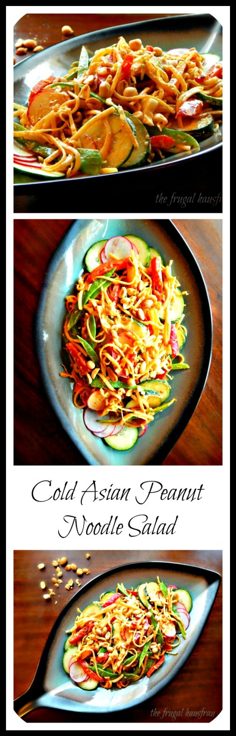 Cold Asian Peanut Noodle Salad by Frugal Hausfrau