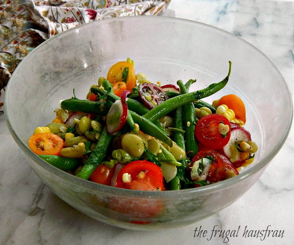 Summer Bean Salad Corn Green Beans Limas