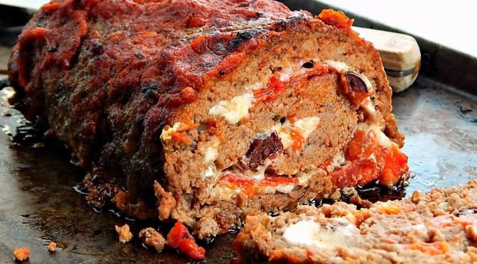 Italian Cheese Stuffed Meatloaf