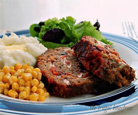 Italian Cheese Stuffed Meatloaaf