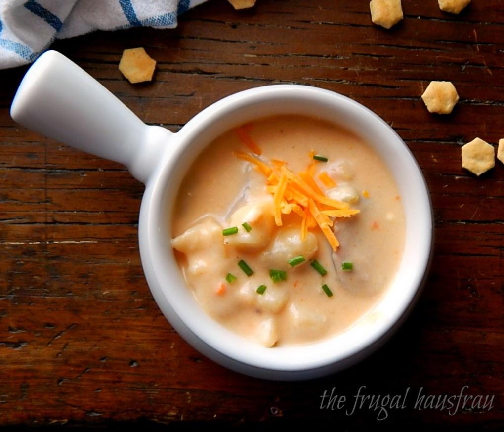 Cheesy Potato Sausage Soup - Instant Pot or Stove-top