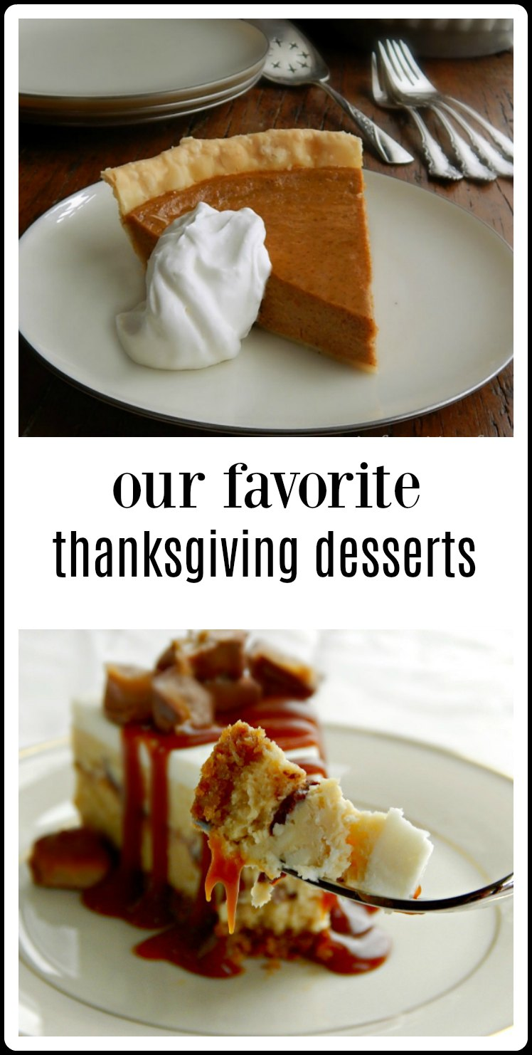 Our Favorite Thanksgiving Desserts at Frugal Hausfrau! From our home to yours, from pumpkin and beyond. Something for everyone. #ThanksgivingDesserts
