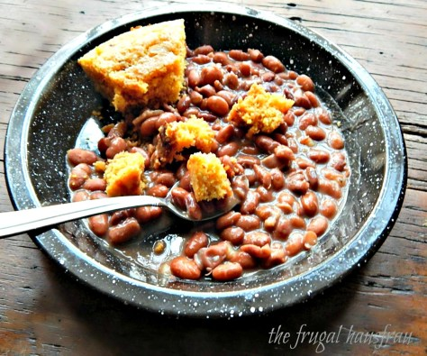Pintos with Southern Skillet Cornbread