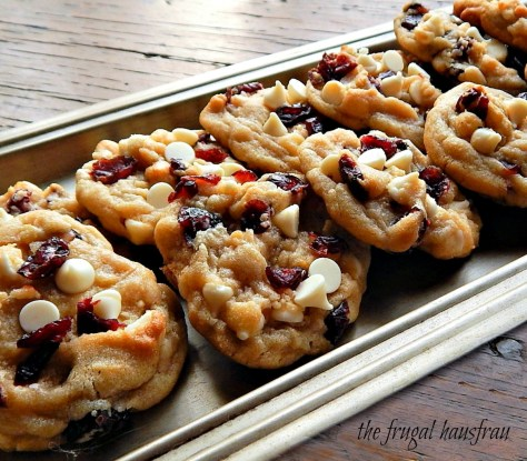 White Chocolate & Dried Cranberry Cookies