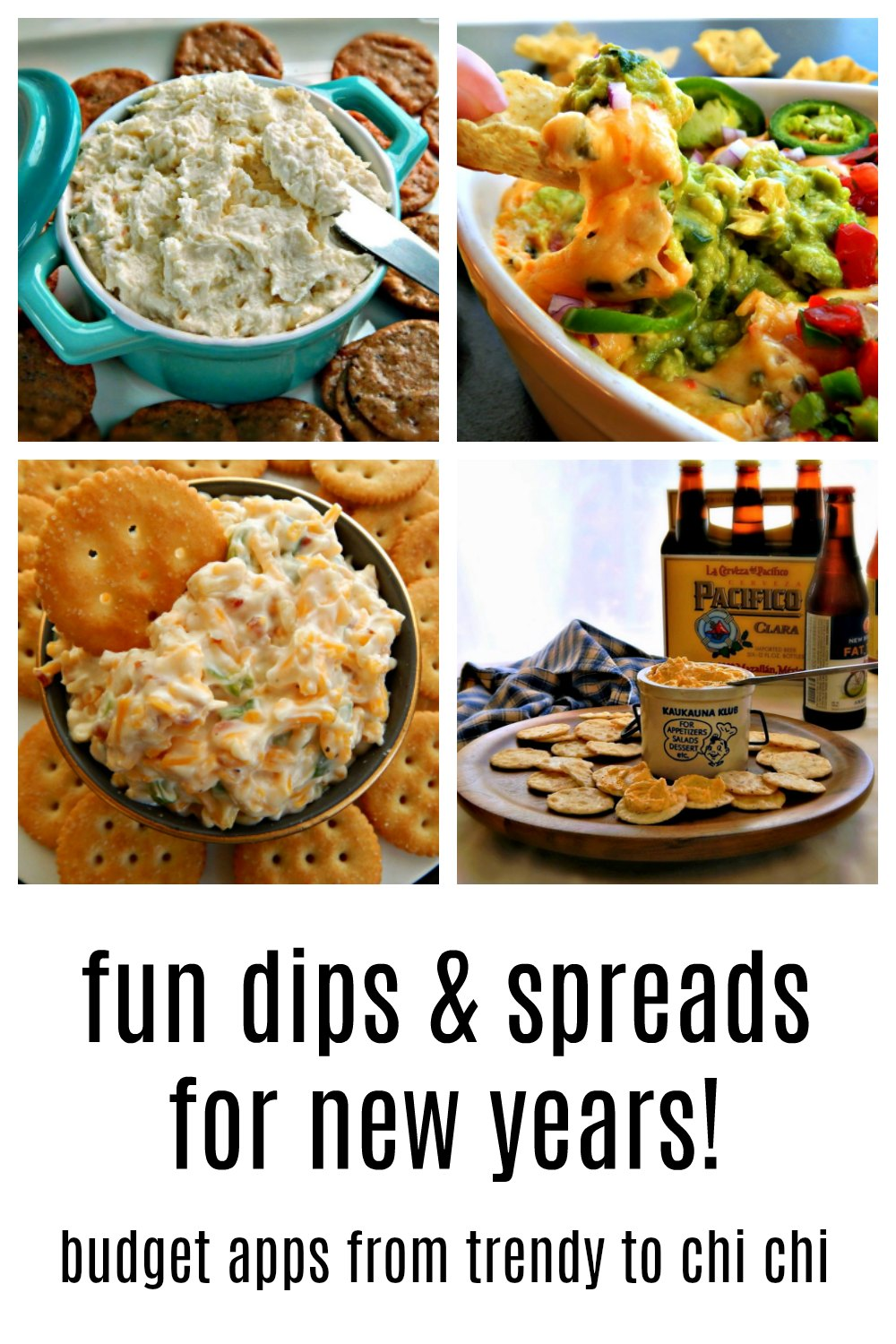 Some of our family's favorite fun Dips & Spreads for New Years'. See if you might find something to your taste or explore my menu of dozens of recipes. #NewYearsAppetizers #FunNewYearsDipsSpreads
