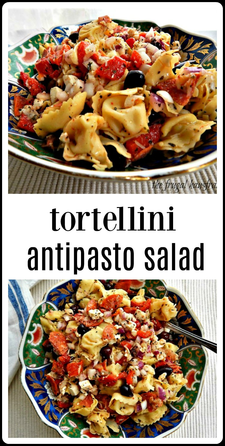 This loaded and amped up Tortellini Antipasto Salad is the one you'll want to bring to any party! & print the recipe - everyone will want it. #PastaSalad #TortelliniPastaSalad