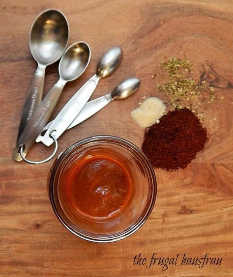 Home-made Enchilada Sauce, quick & from the pantry. Chili powder, tomato sauce