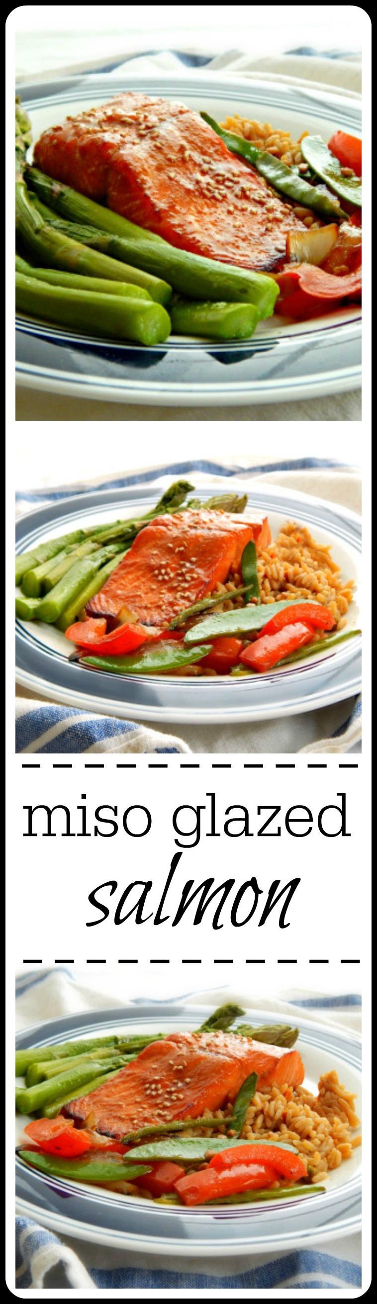 Miso Glazed Salmon - Super easy, super fast & Super tasty! Have a healthy dinner on the table in minutes! #MisoGlazedSalmon #MisoSalmon #EasySalmon