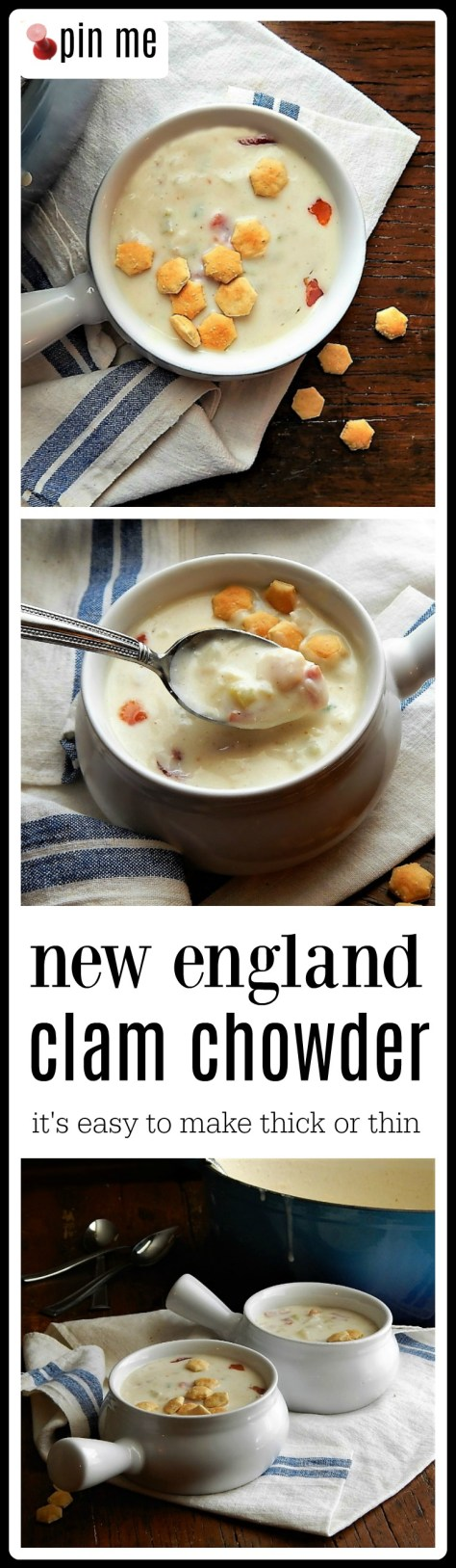 New England Clam Chowder - this is the perfect recipe and it's easy to adjust to your liking! Use canned or frozen clams or cook fresh if they're available.